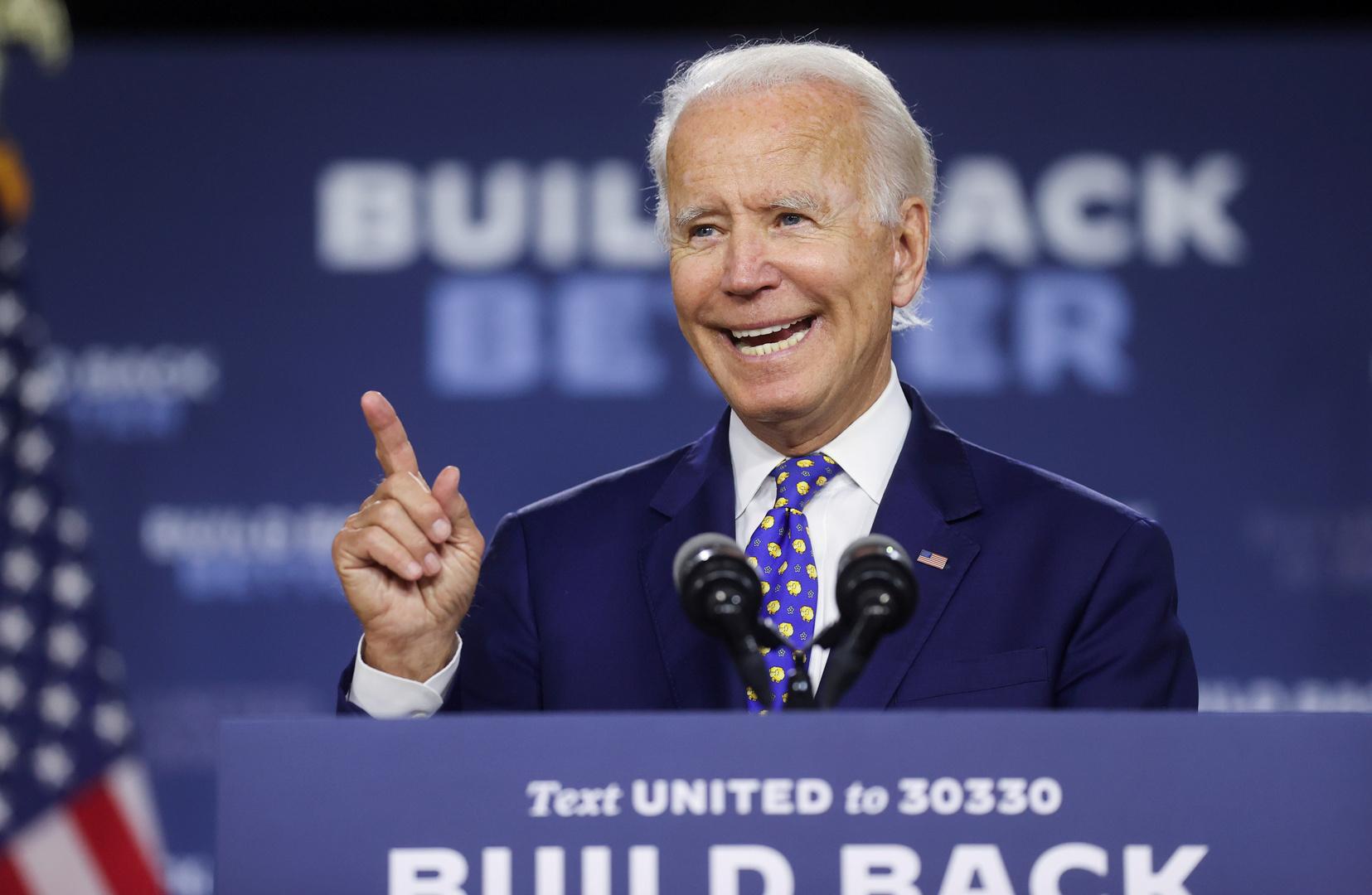 جو بايدن، المرشح الديمقراطي لانتخابات الرئاسة الأمريكية 2020