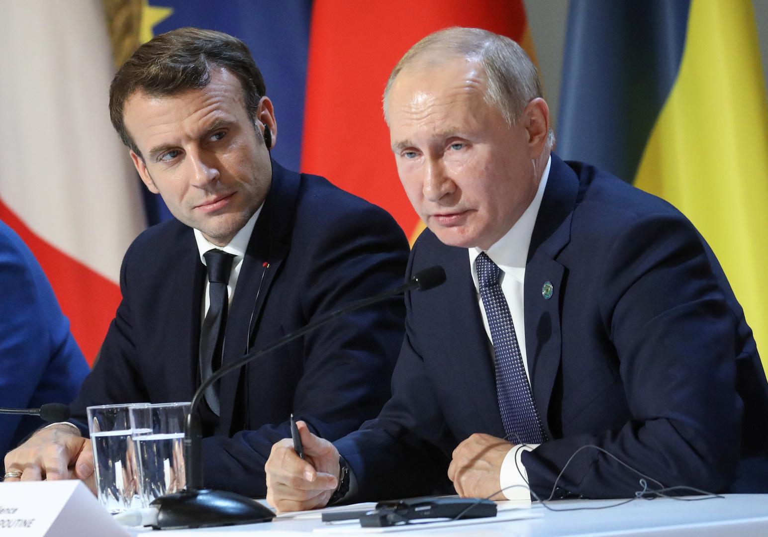 بوتين يؤكد لماكرون ضرورة تسوية مشاكل لبنان دون تدخل خارجي