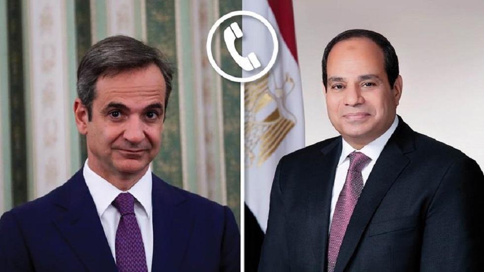 السيسي يتلقى اتصالا من رئيس وزراء اليونان ويتبادلان التهنئة بمناسبة توقيع اتفاق تعيين الحدود