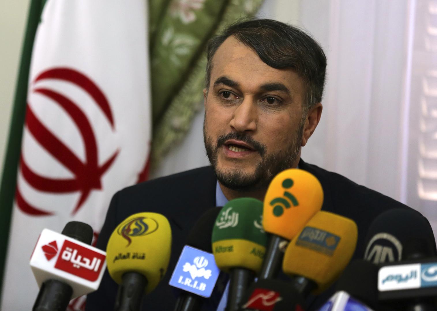 عبد اللهيان: معادلات جديدة تولد بالمنطقة وإسرائيل وأمريكا تخططان لتقسيم الدول الإسلامية