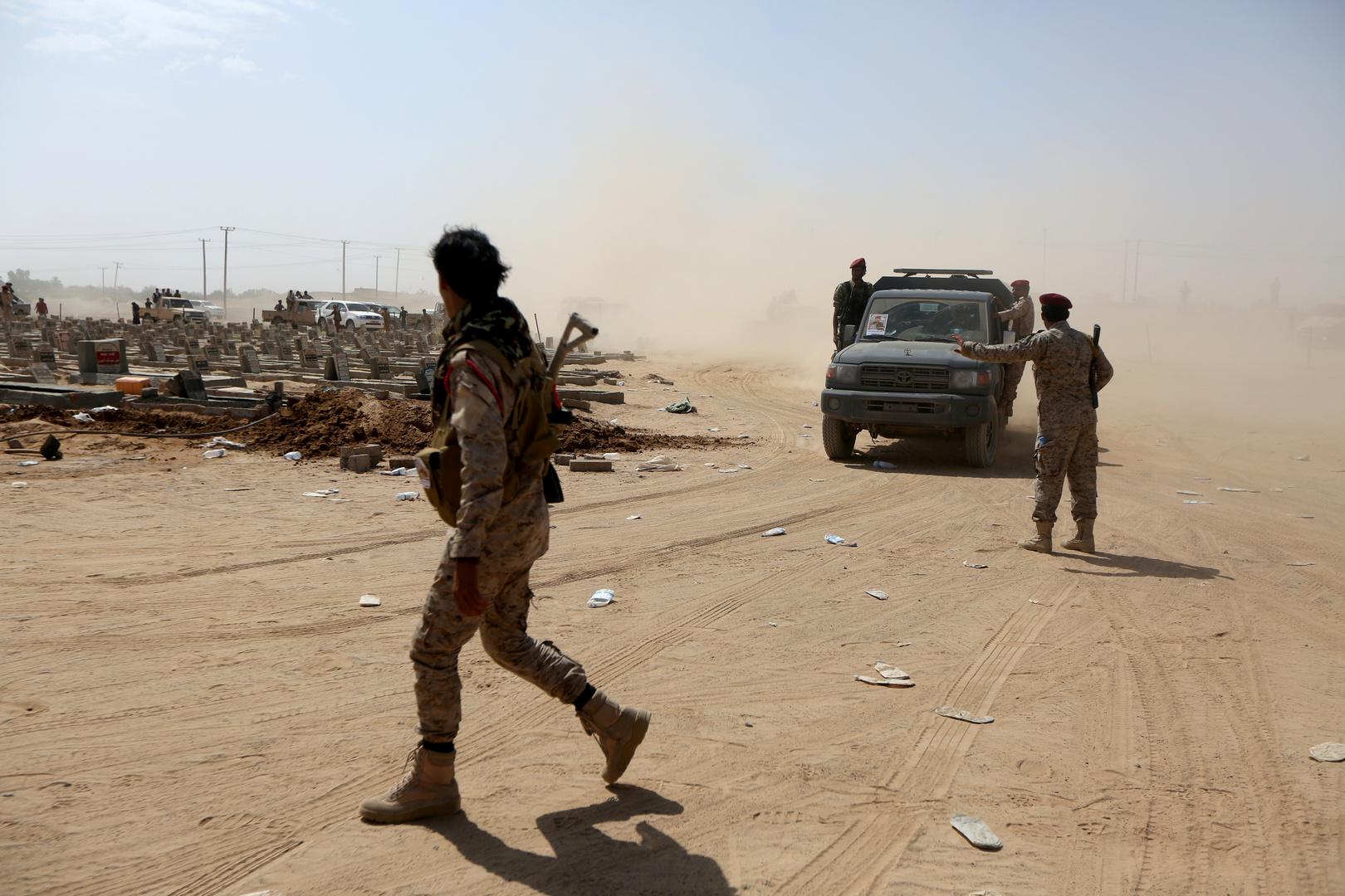 عناصر من الجيش اليمني في محافظة أبين