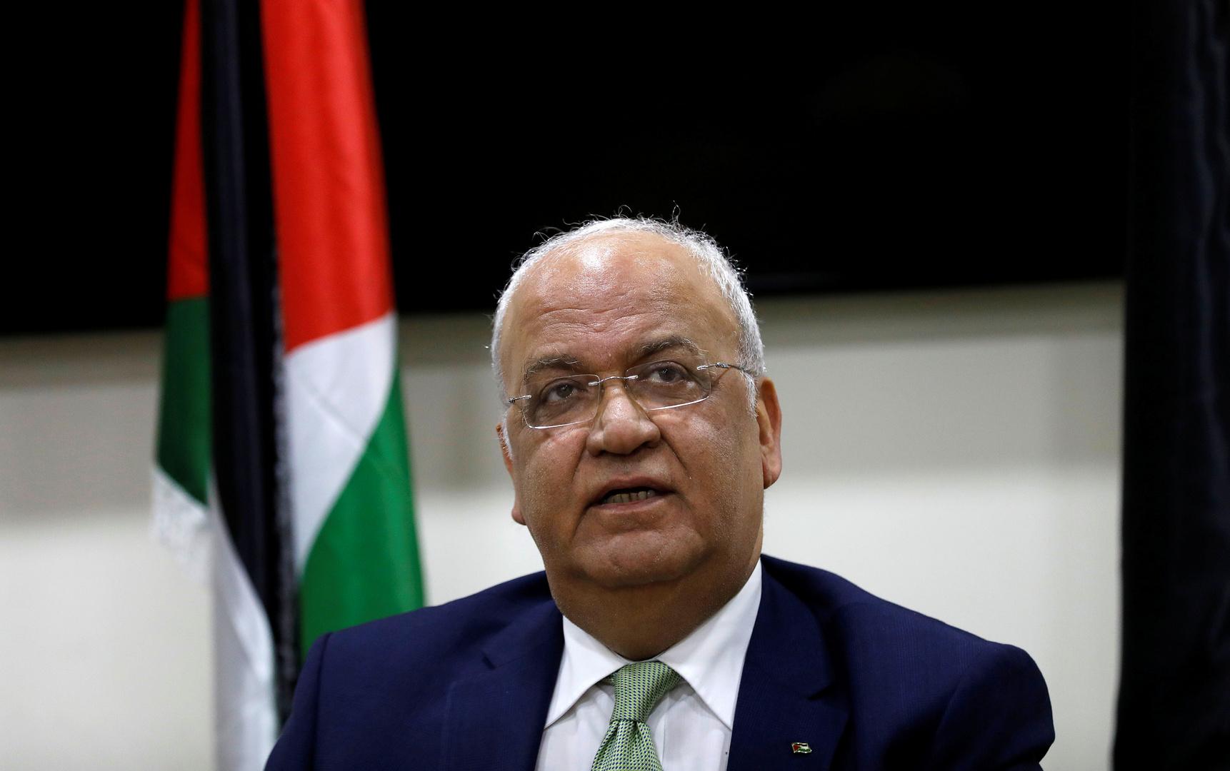عريقات: اتفاق إسرائيل والإمارات يقتل حل الدولتين وتلقينا تطمينات من السعودية