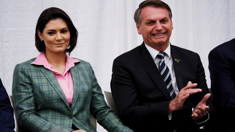 الرئيس البرازيلي جايير بولسونارو وزوجته ميشيل