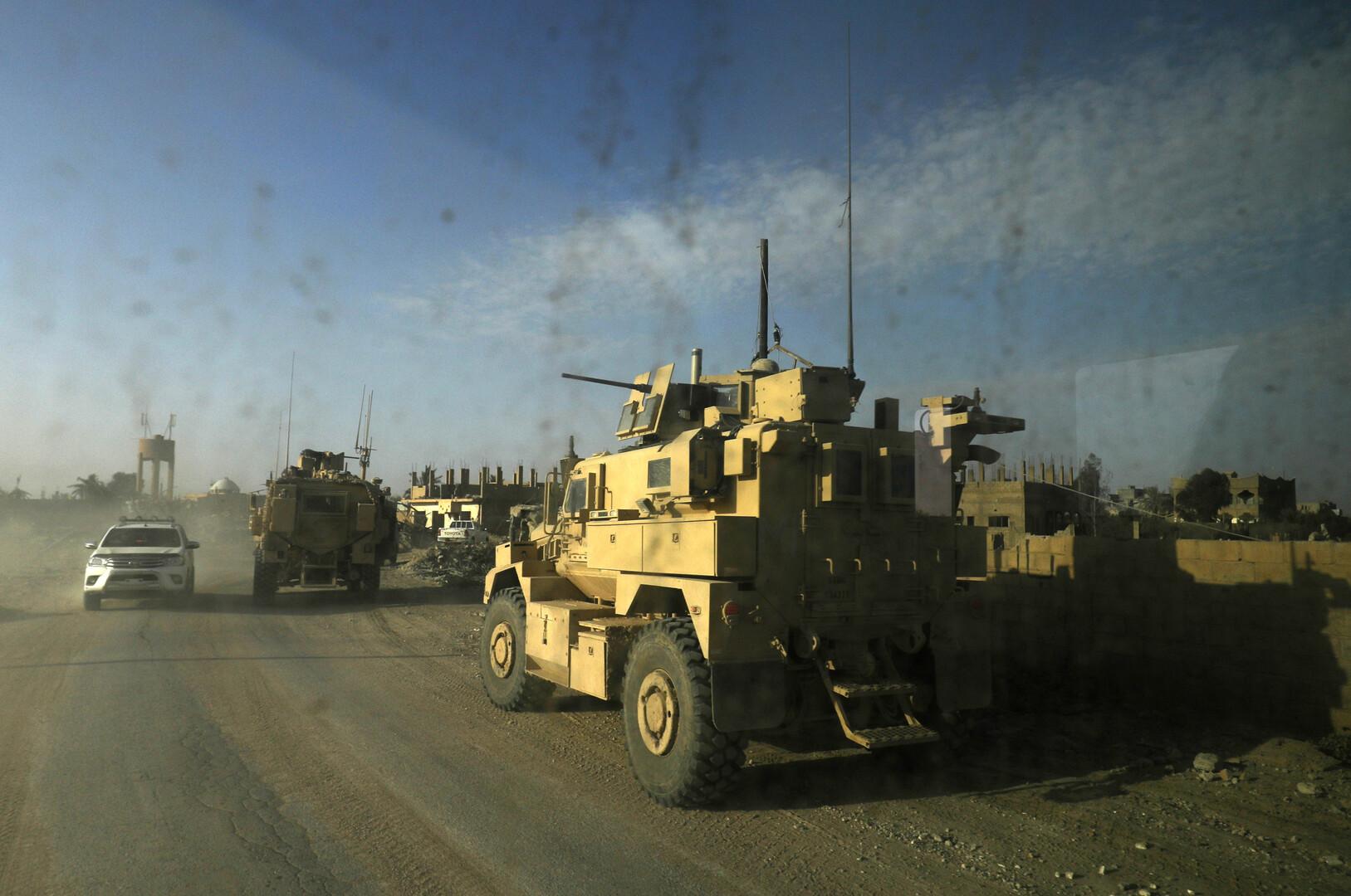 مدرعات تابعة لقوات التحالف الدولي ضد