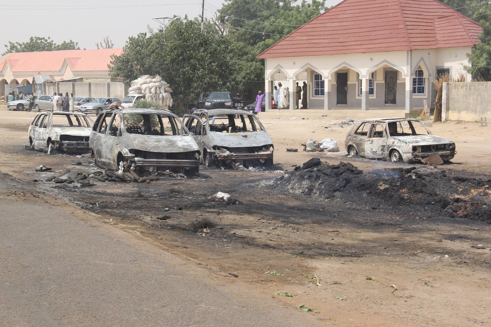 عواقب هجوم شنه مسلحون على بلدة في نيجيريا (أرشيف)أ