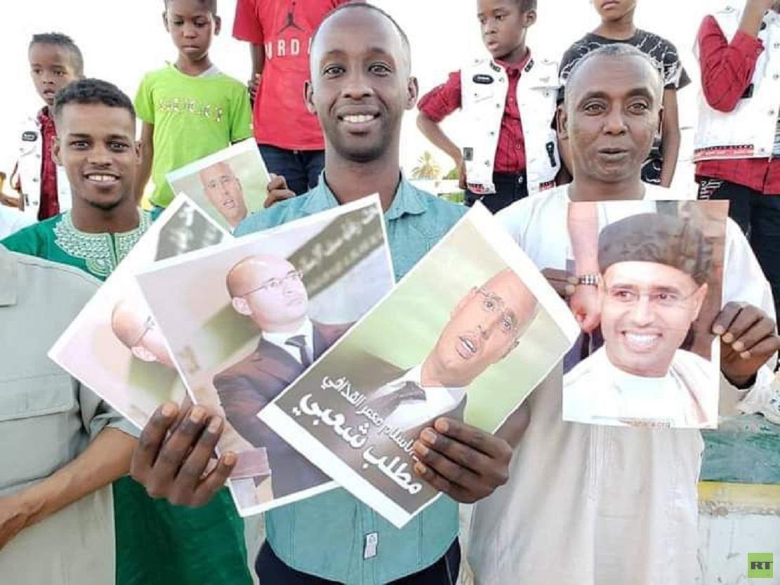 مظاهرات مؤيدة لترشح نجل القذافي سيف الإسلام لرئاسة ليبيا