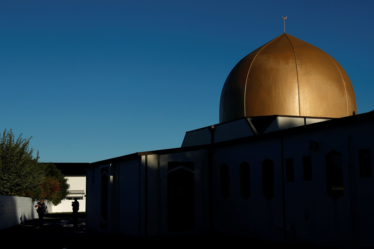 المسجد حيث حصلت جريمة إطلاق النار على المصلين في نيوزيلندا
