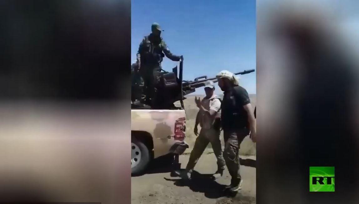 لحظة التفجير في دير الزور الذي أدى إلى مقتل الضابط الروسي