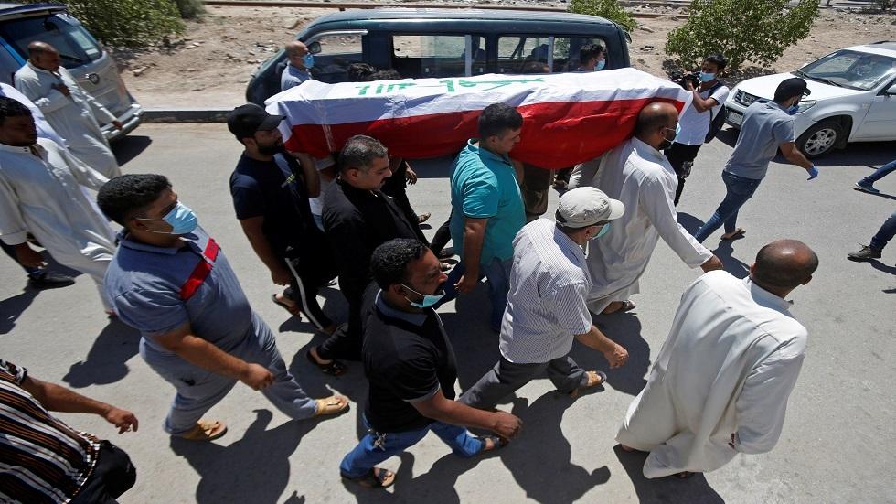تشييع ناشطة أغتيلت في البصرة قبل أيام