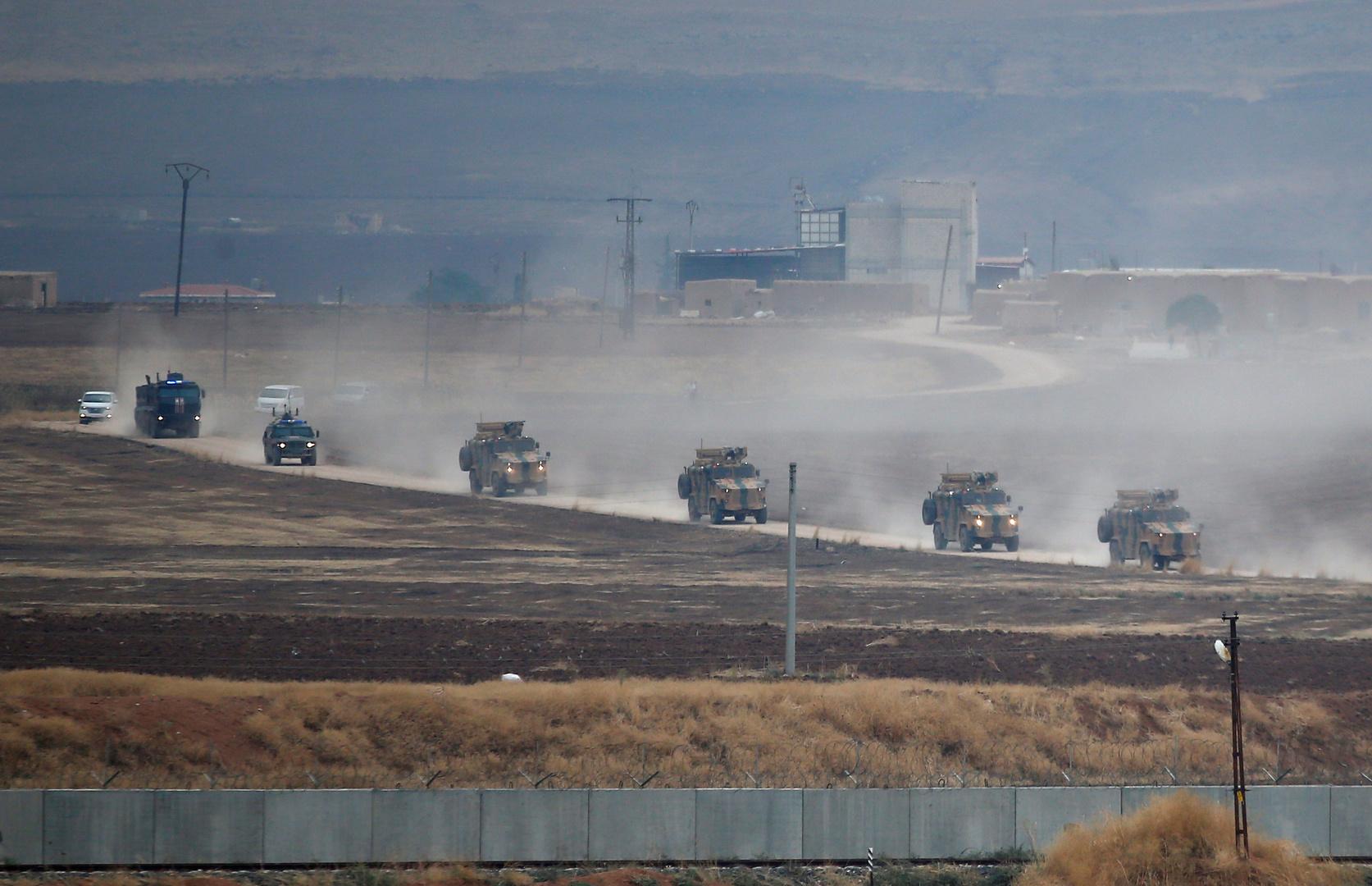 دورية روسيا تركية مشتركة في سوريا.