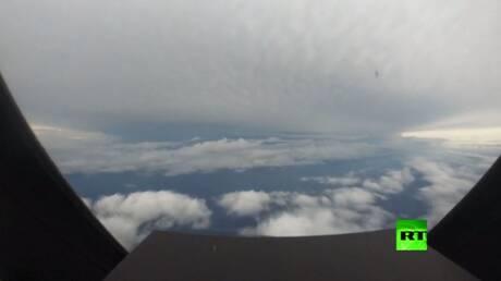 """فيديو من عين إعصار """"إسياس"""" وهو يقترب من فلوريدا"""