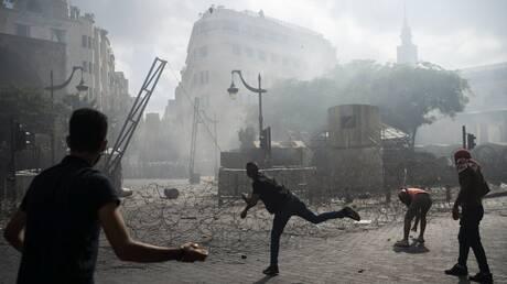 تجدد الاشتباكات بين قوى الأمن ومحتجين في وسط بيروت