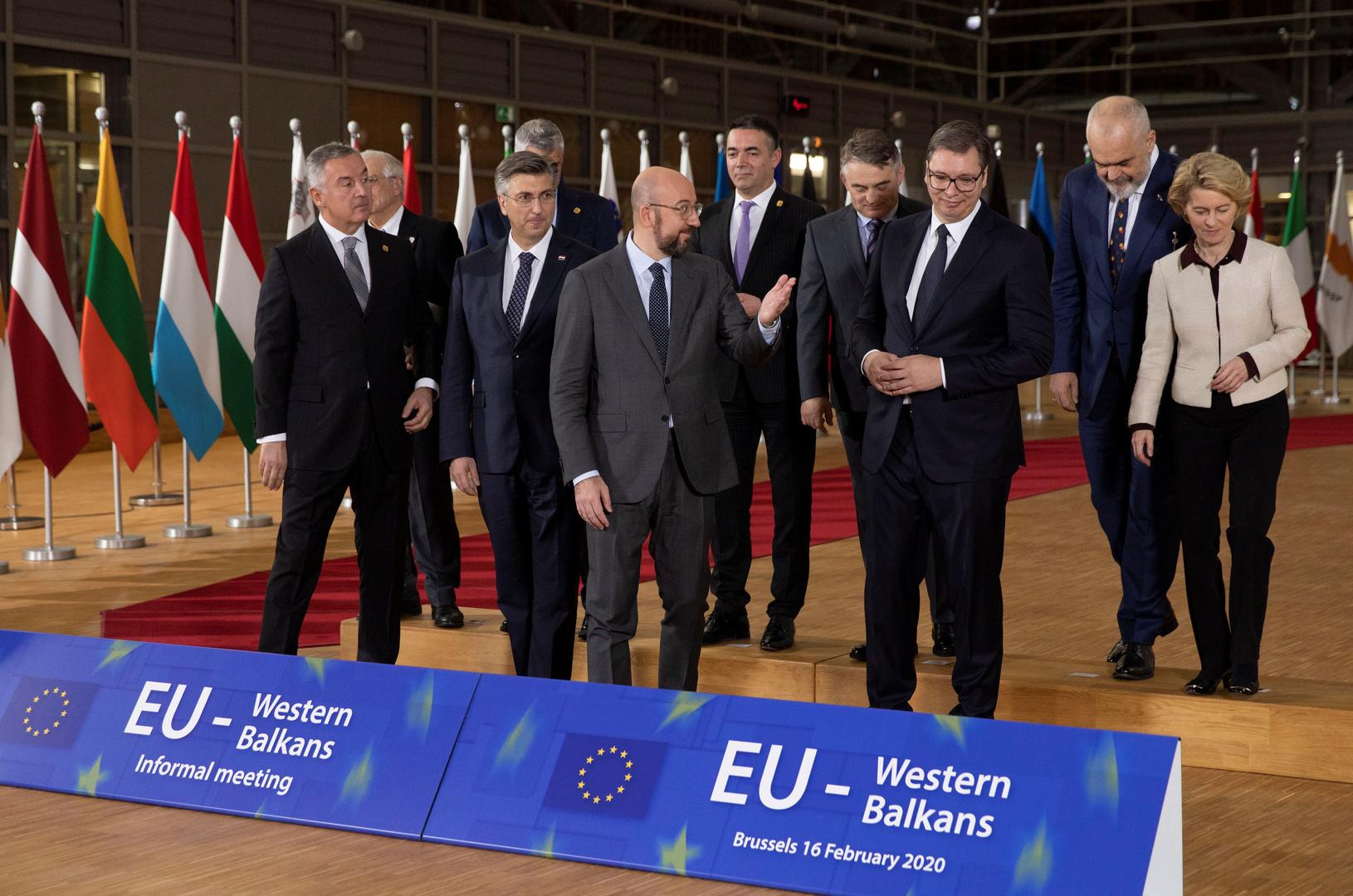 قمة الاتحاد الأوروبي مع دول غربي البلقان بمشاركة رئيسي صربيا وكوسوفو
