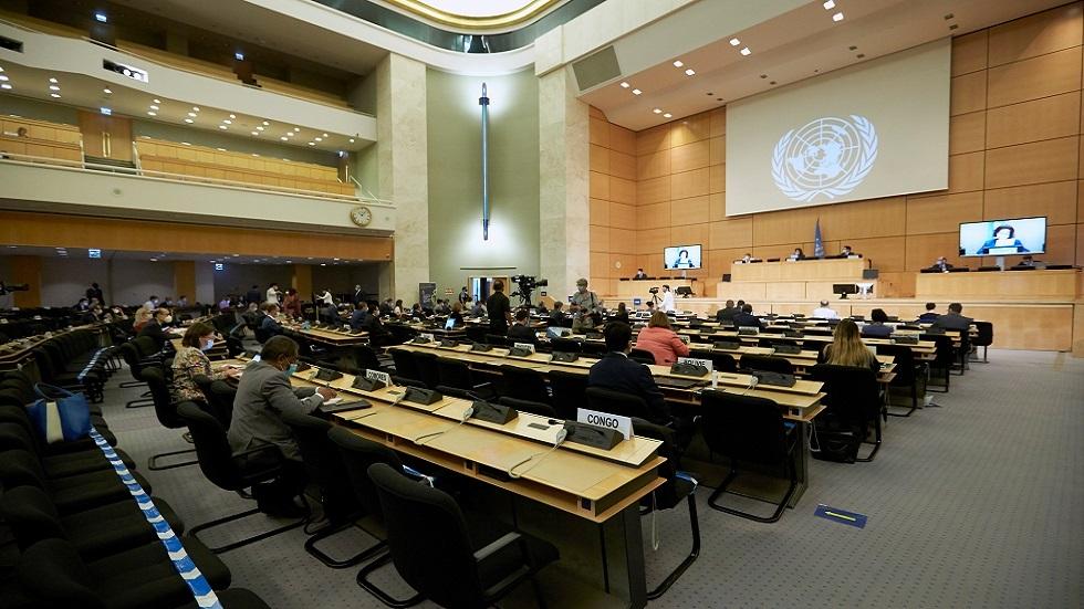 جلسة لمجلس حقوق الإنسان التابع للأمم المتحدة (صورة أرشيفية)