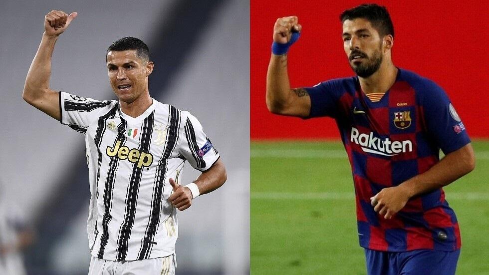 سواريز ينتظرموافقة برشلونةللالتحاق برونالدو