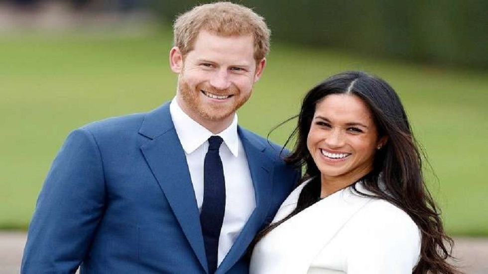 الأمير البريطاني هاري وزوجته الأمريكية ميغان
