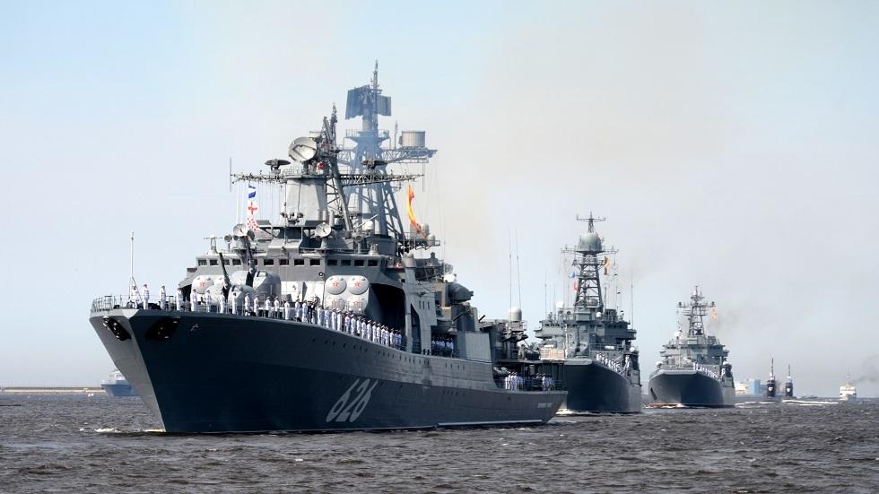 صورة أرشيفية لسفن حربية روسية