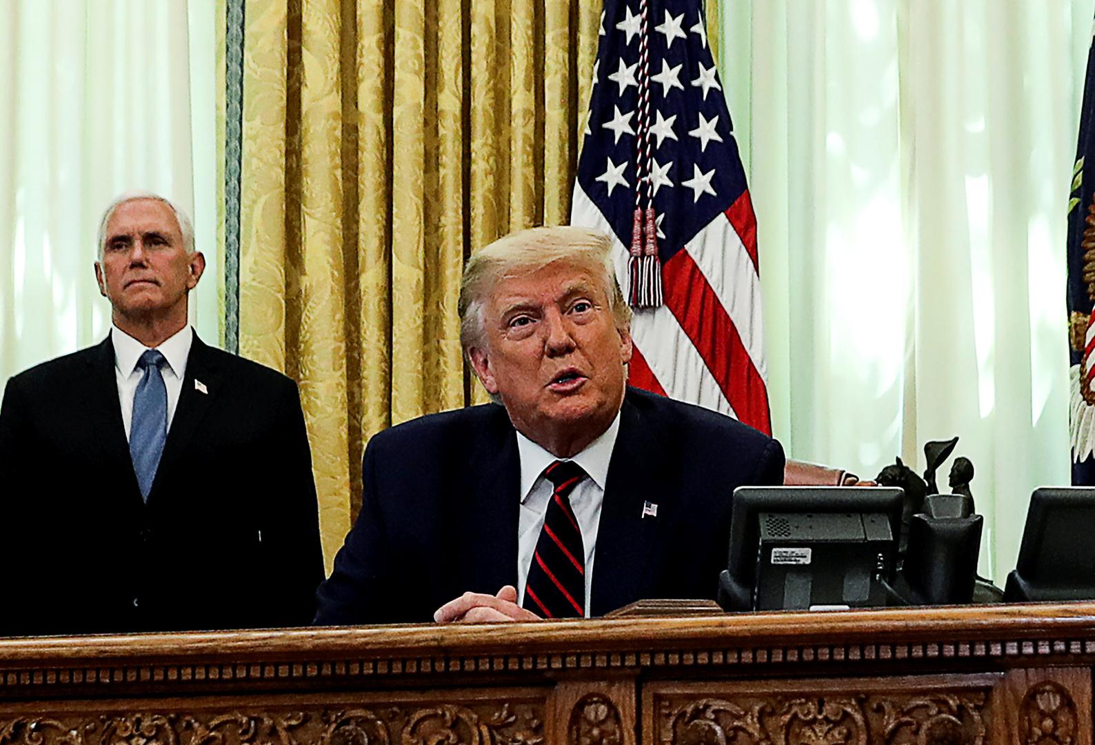 ترامب: دول عربية تسألنا متى سيأتي دورها لإعلان تطبيع العلاقات مع إسرائيل