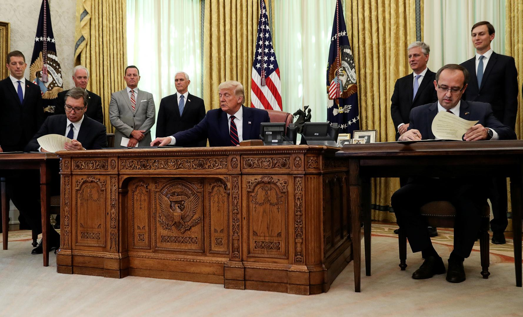 صربيا توقع اتفاقية مع الولايات المتحدة حول كوسوفو