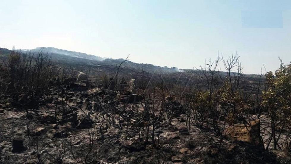 حريق غابات بيرة الجرد