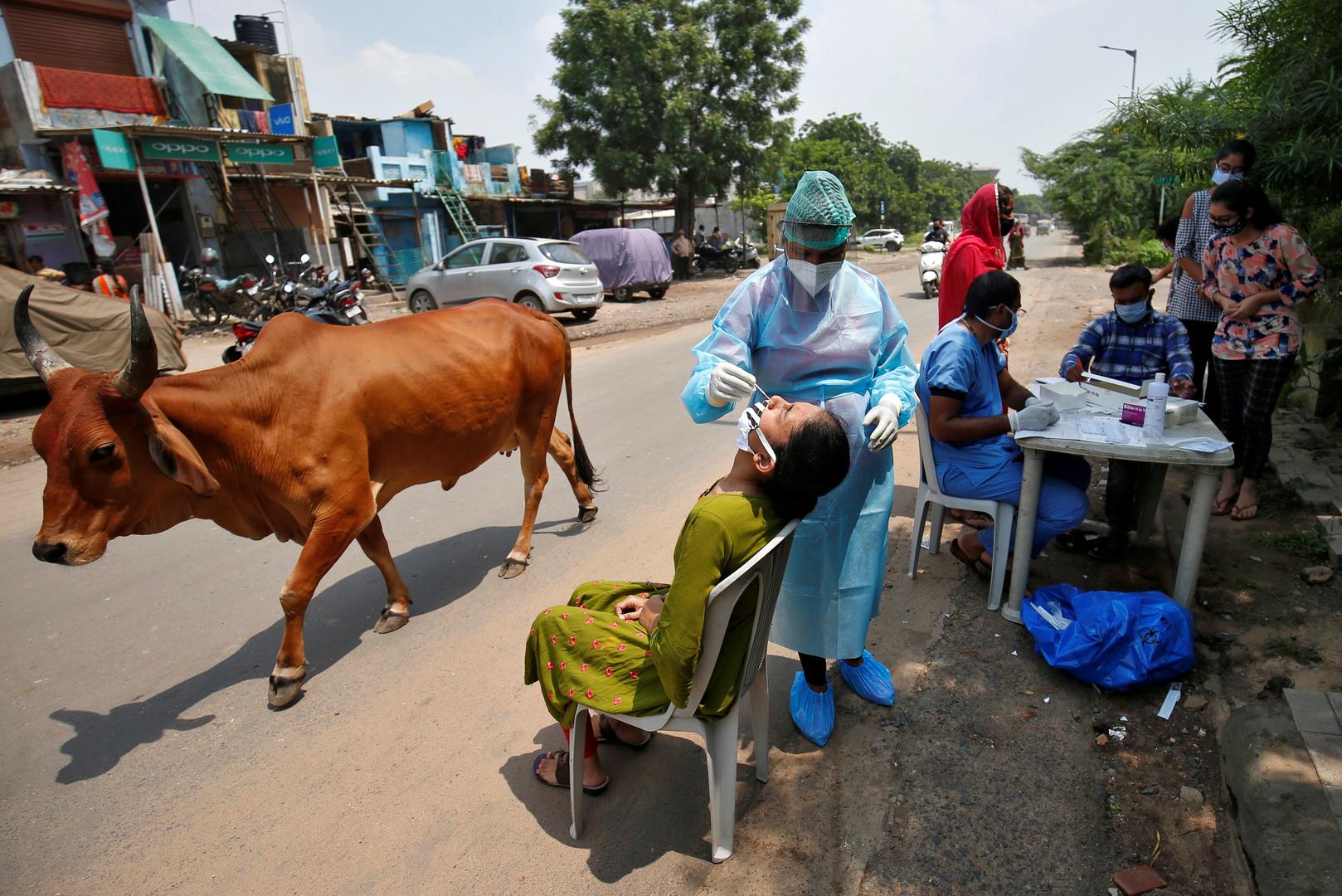 الهند في المرتبة الثالثة عالميا بعدد الإصابات المؤكدة بكورونا