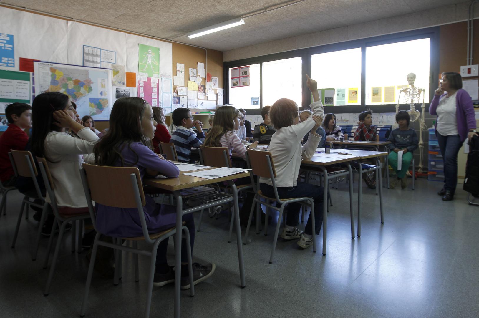 قسم في إحدى مدارس مدينة برشلونة