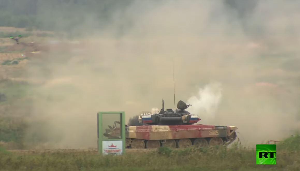 روسيا تفوز بمسابقة بياتلون الدبابات 2020