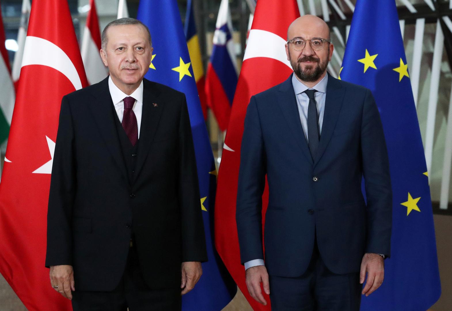 رئيس مجلس الاتحاد الأوروبي يدعو أردوغان إلى مؤتمر متعدد الأطراف حول شرق المتوسط