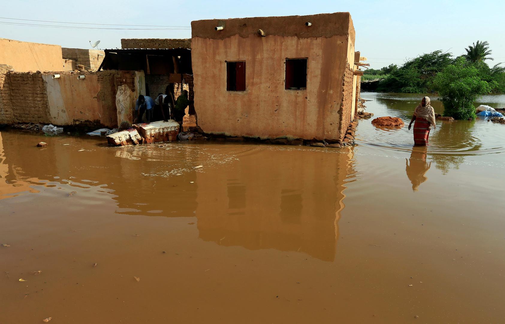 ارتفاع حصيلة ضحايا فيضانات السودان إلى 102 ودمار 70 ألف منزل