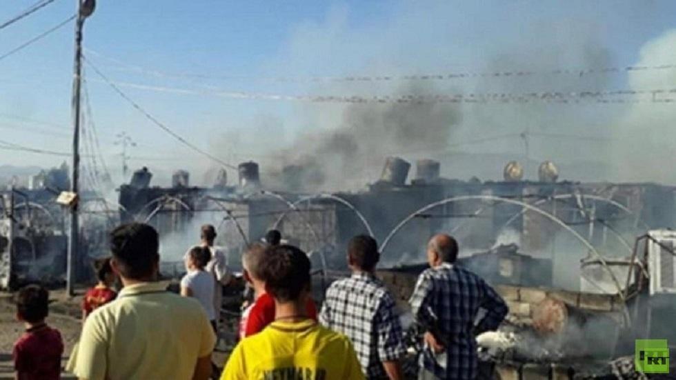 العراق.. حريق  يلتهم عشرة خيام في مخيم للنازحين بدهوك (صورة من الأرشيف)