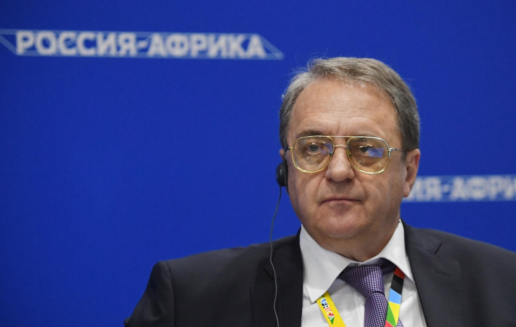 بوغدانوف يبحث مع ممثلي المنظمات الفلسطينية في دمشق عقد اجتماع فلسطيني في موسكو