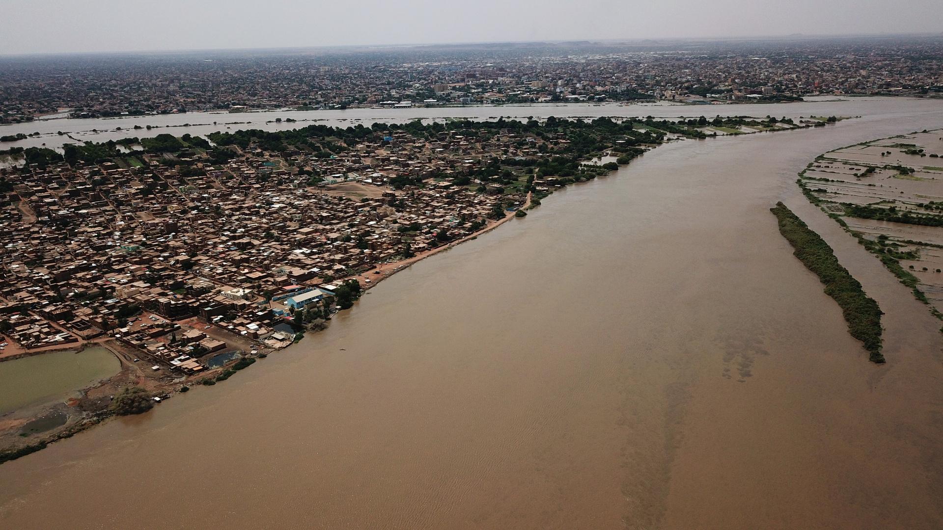 فيضان نهر النيل، جنوب الخرطوم