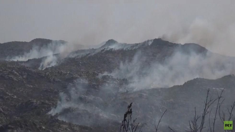 تواصل الحرائق في غابات الساحل السوري