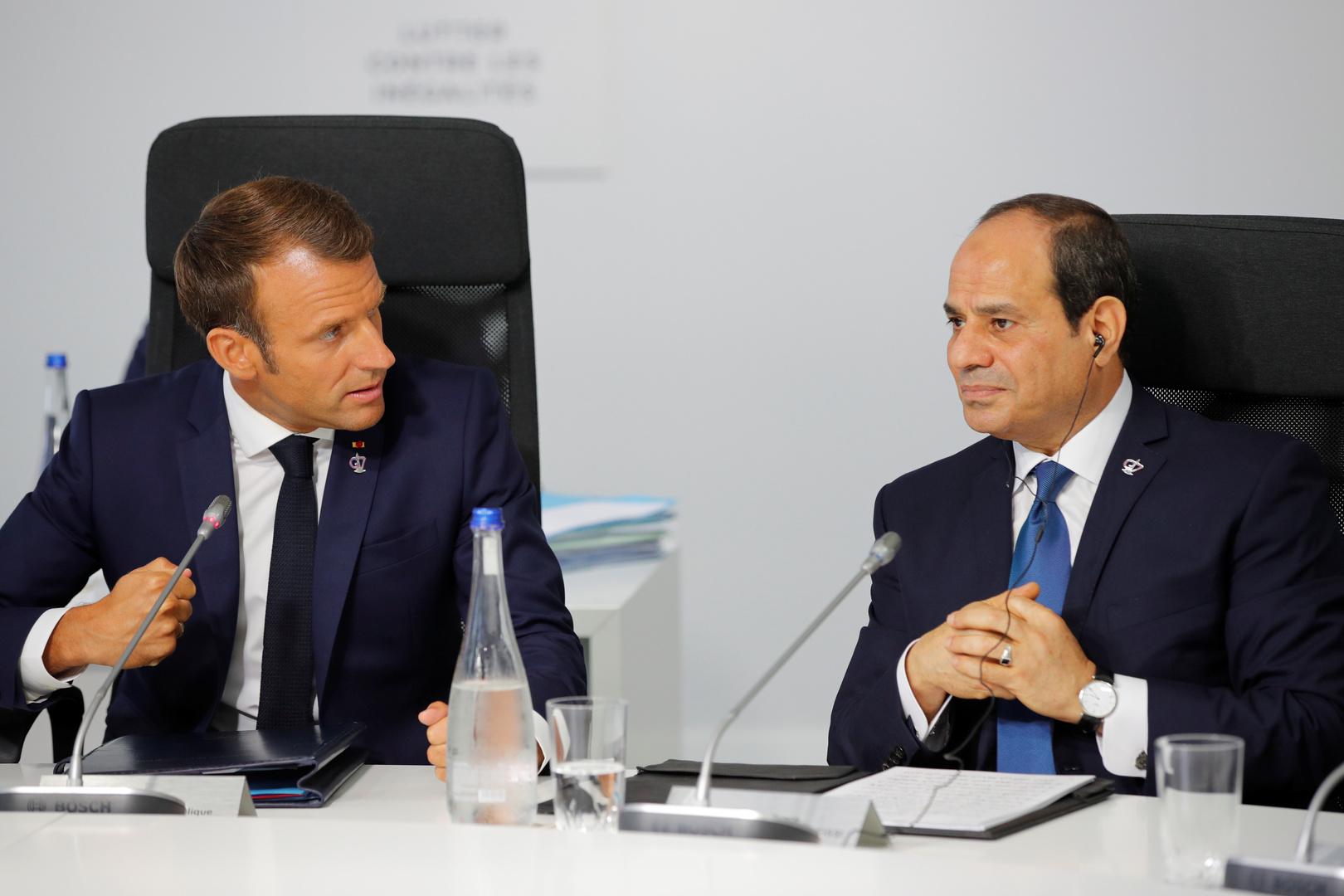 السيسي وماكرون يرفضان ممارسات التصعيد التي تمس مصالح دول شرق المتوسط