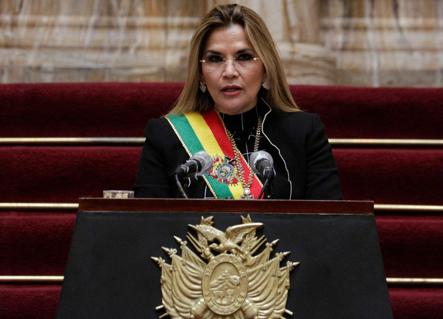 الرئيسة الانتقالية لبوليفيا جانين آنيز