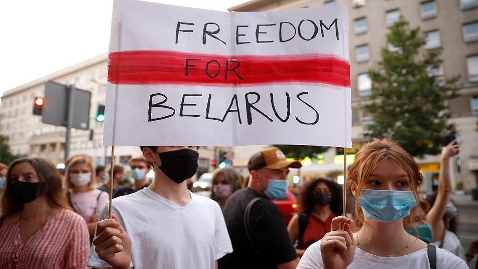 مظاهرة في وارسو تأييدا لاحتجاجات بيلاروس