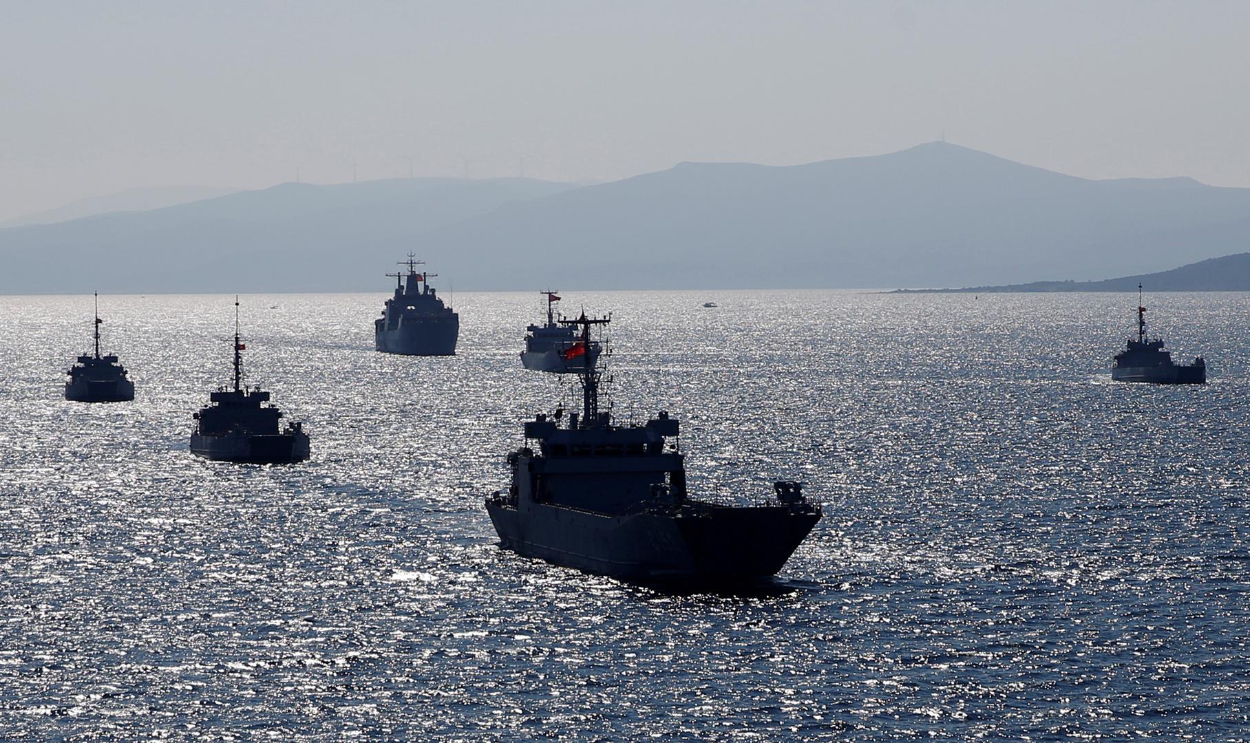 مناورات تركية بالذخيرة الحية قبالة سواحل قبرص