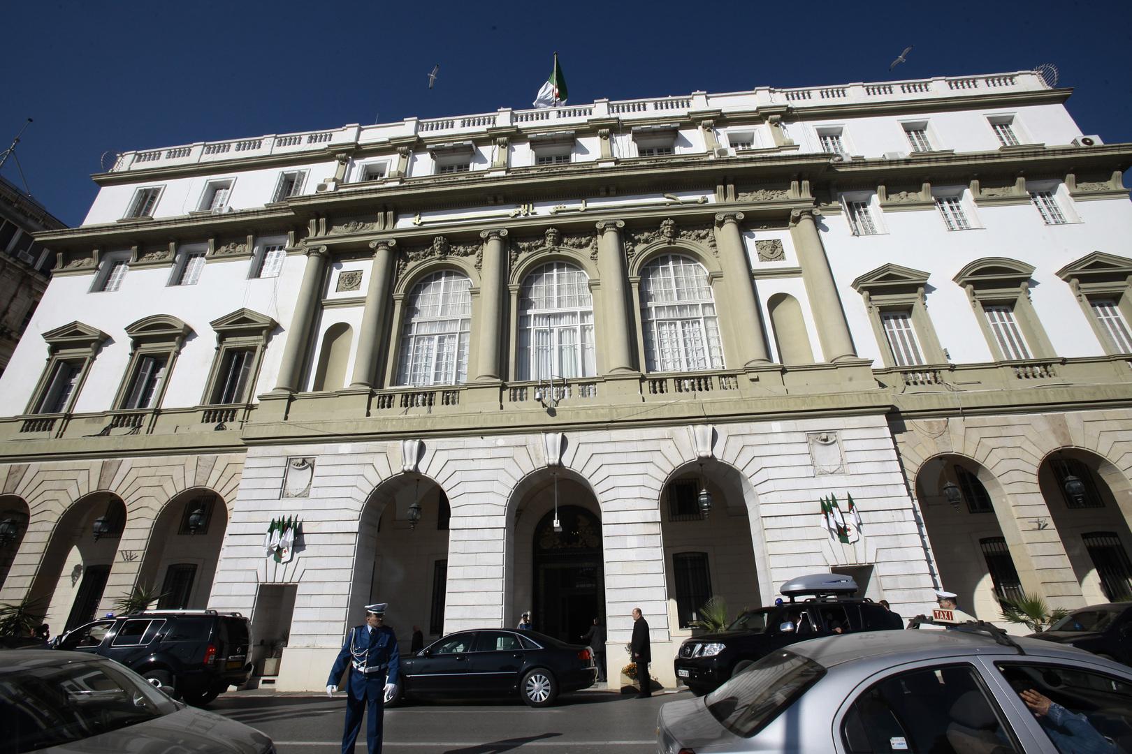 مقر مجلس الأمة في وسط مدينة الجزائر.