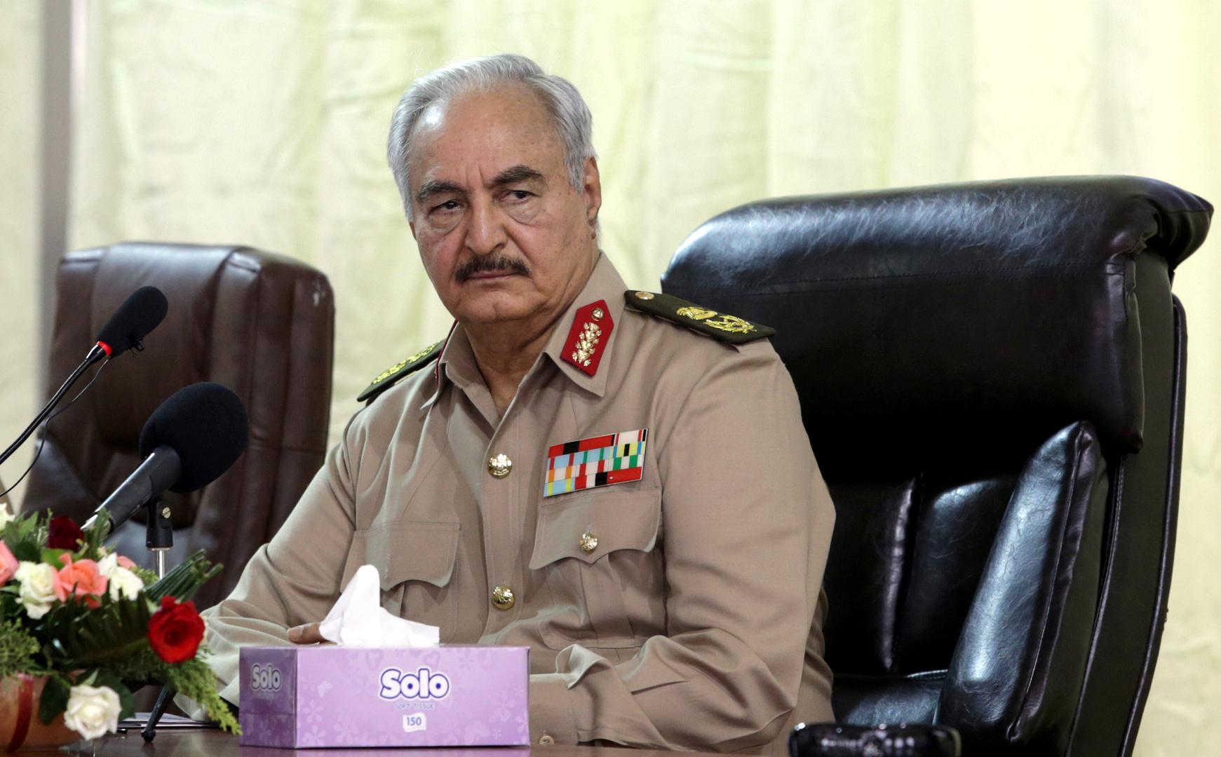 واشنطن: حفتر تعهد بفتح قطاع الطاقة الليبي في موعد أقصاه اليوم
