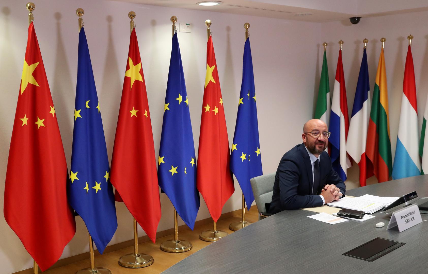 أعلام للاتحاد الأوروبي والصين