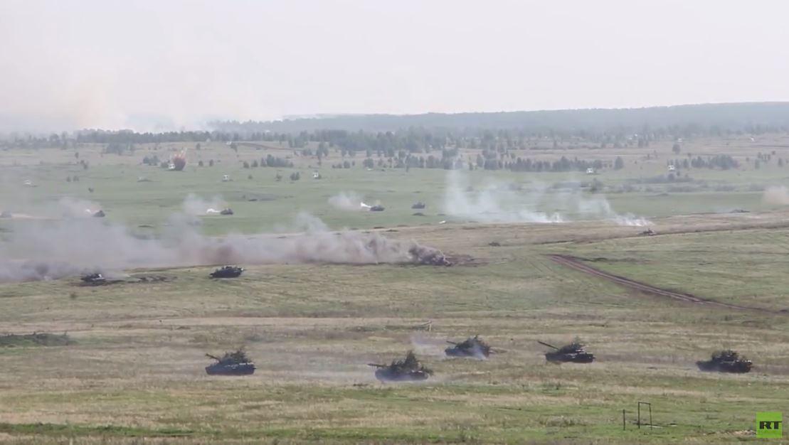 أكبر تدريبات لقوات الدبابات الروسية لهذا العام