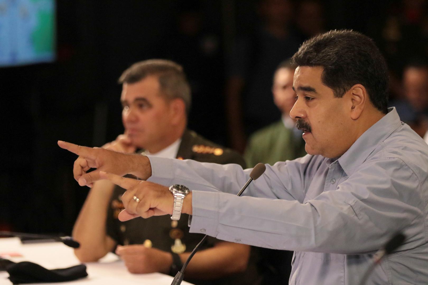 رئيس فنزويلا نيكولاس مادورو.
