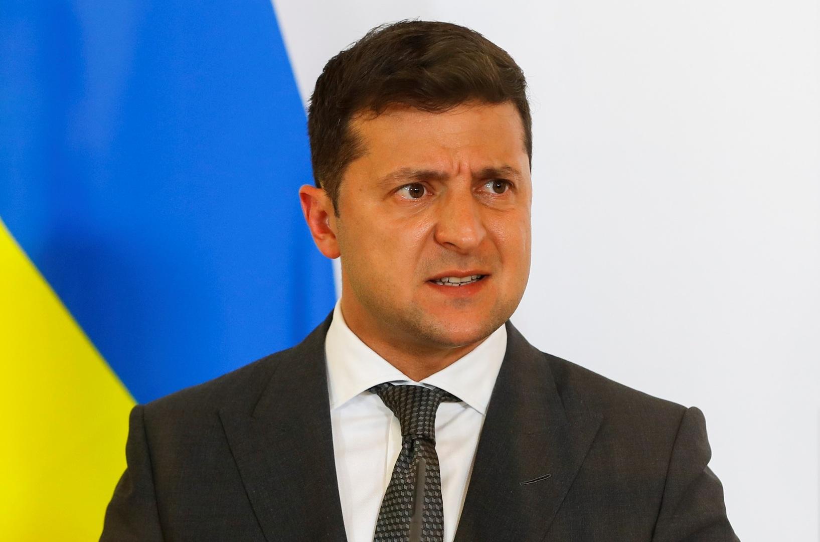 الرئيس الأوكراني، فلاديمير زيلينسكي