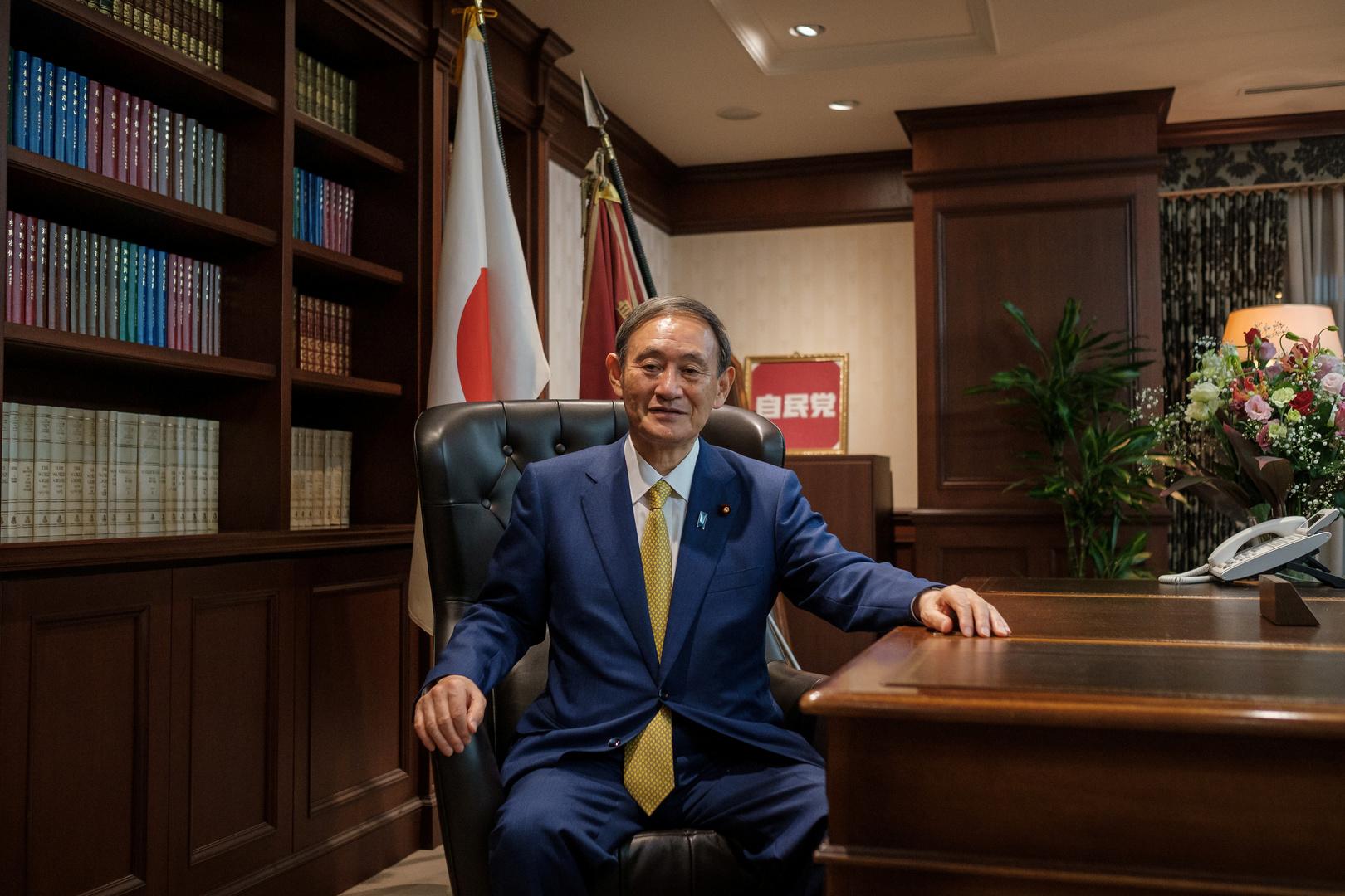 رئيس الوزراء الياباني، يوشيهيدي سوغا