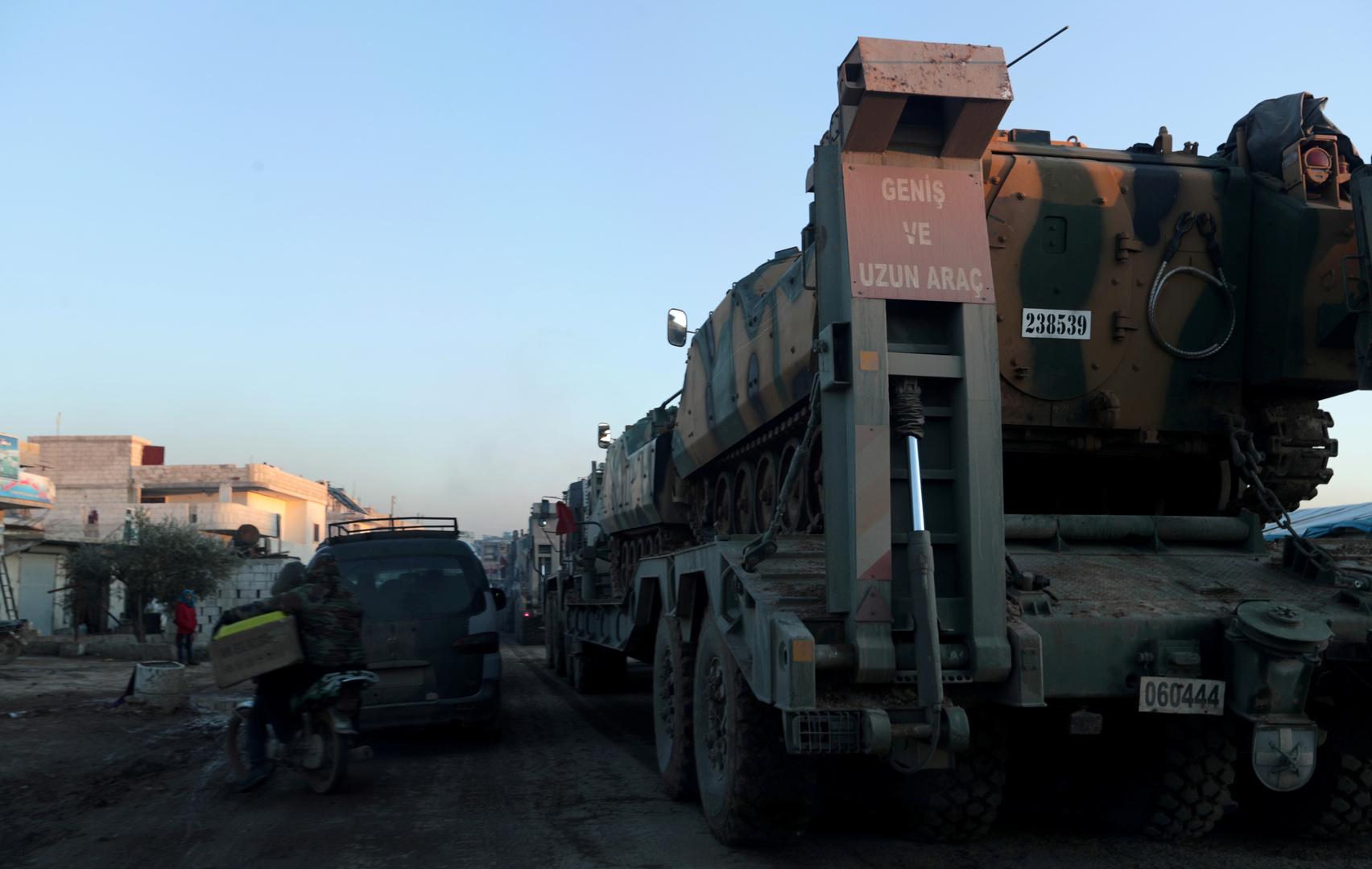 وكالة روسية: موسكو وأنقرة تبحثان سحب أسلحة تركية ثقيلة من إدلب