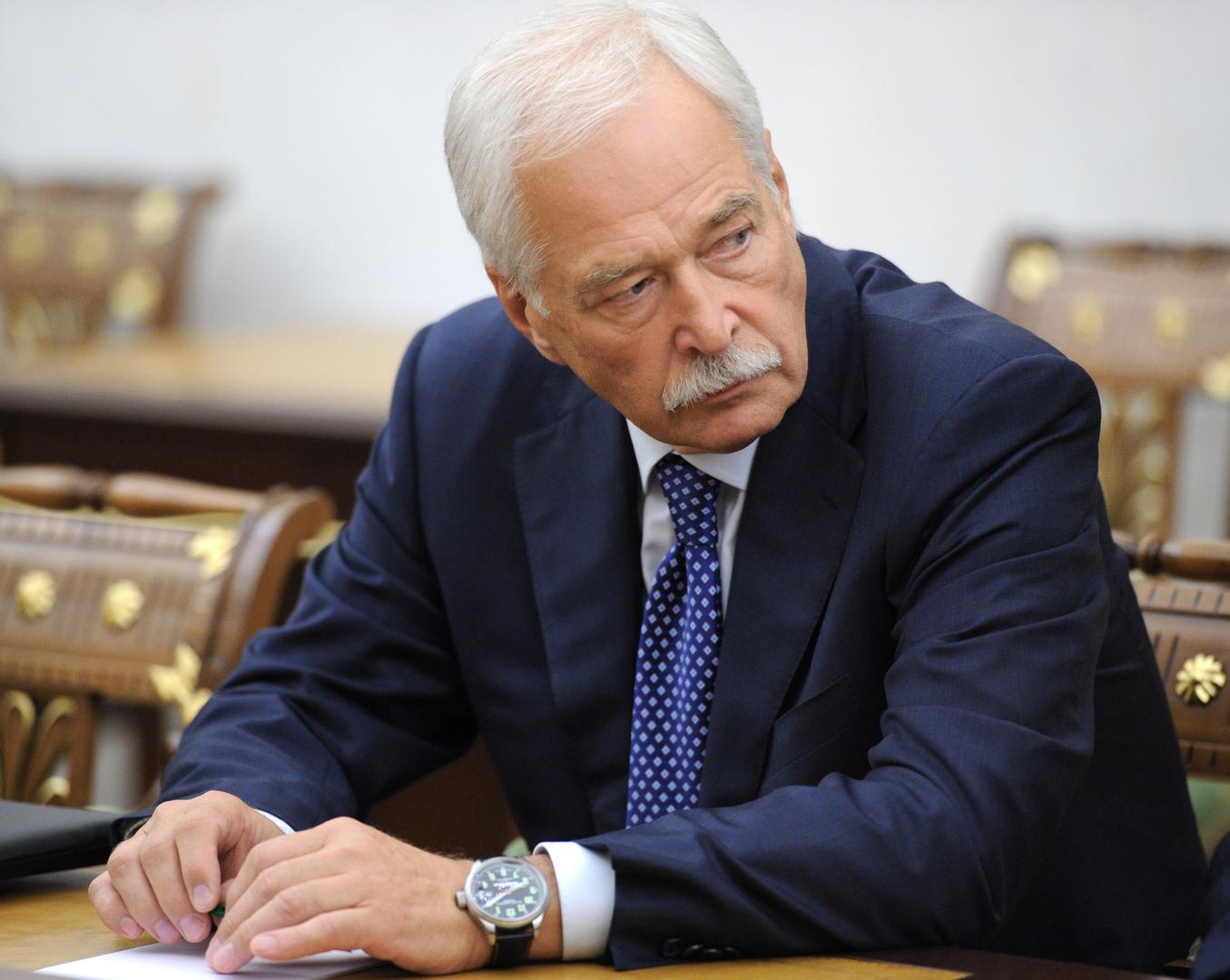 المفوض الروسي في مجموعة الاتصال الخاصة بتسوية النزاع في منطقة دونباس بشرق أوكانيا، بوريس غريزلوف