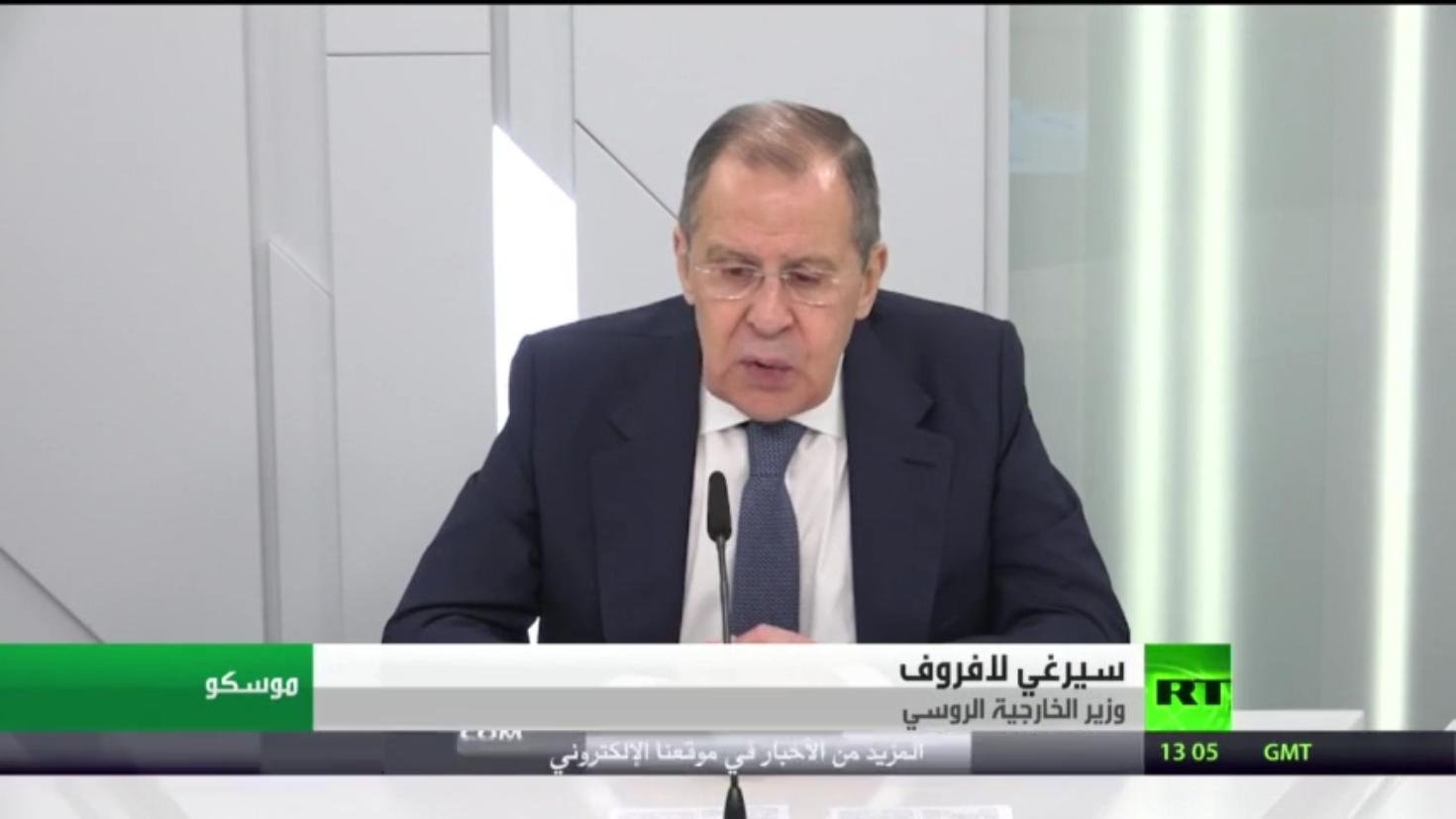 لافروف: هناك تطورات إيجابية في ليبيا