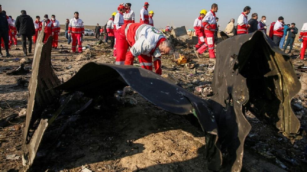حطام الطائرة الأوكرانية بالقرب من طهران - أرشيف