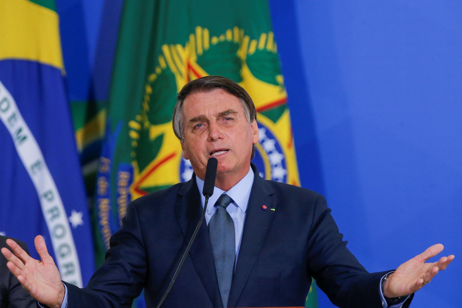 الرئيس البرازيلي، جايير بولسونارو.
