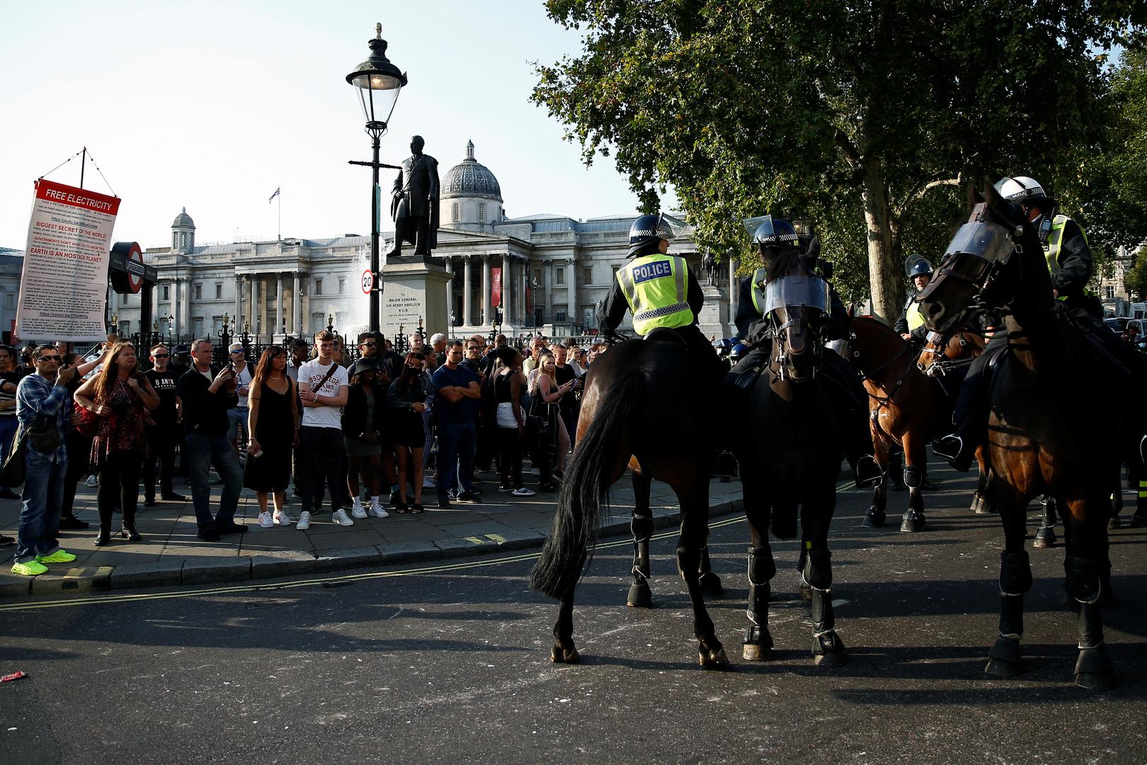 شرطة لندن تعتقل 32 شخصا شاركوا في مظاهرة ضد إجراءات مكافحة كورونا